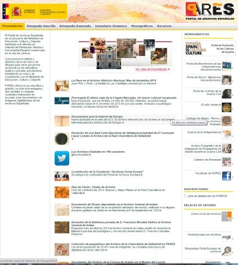 portal archivos españoles