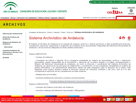 red archivos andalucia